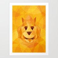 Orange friend Art Print