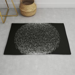 Abstract scribble circle banner. Rug