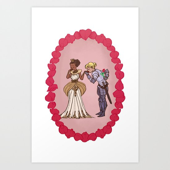 The Queen and Her Knight Art Print