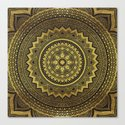 Black and Gold Mandala by mantramandala