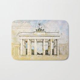 Brandenburg Gate, Berlin Germany Bath Mat