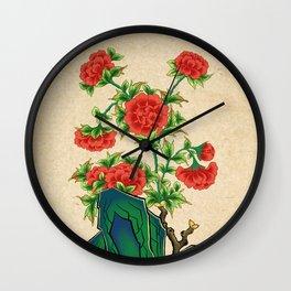 Minhwa: Peonies A Type  Wall Clock