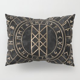 Web of Wyrd The Matrix of Fate- Marble and gold Pillow Sham