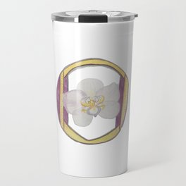 O is for Orchid Travel Mug