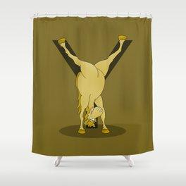 Monogram Y Pony Shower Curtain