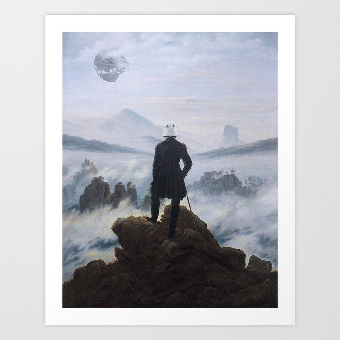 "Homage to Caspar David Freidrich, ""Trooping above the Sea of Fog"" Art Print"