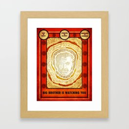 BIG BROTHER IS WATCHING YOU Framed Art Print