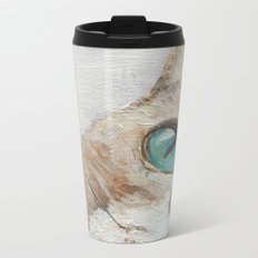 Curious kitten Metal Travel Mug