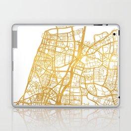 TEL AVIV ISRAEL CITY STREET MAP ART Laptop & iPad Skin