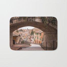 View of a 13th century acqueduct in Perugia, Umbria, Italy. Bath Mat
