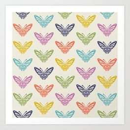 Butterfly Pattern Art Print
