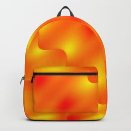 Bright pattern of blurry red and gold lines and curly patterns. Backpack