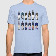 President Butts Mens Fitted Tee Tri-Blue MEDIUM