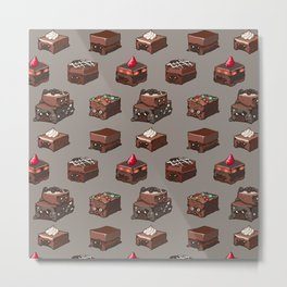Pug Brownies Metal Print