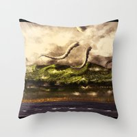 kraken Throw Pillows featuring Kraken by Ryky