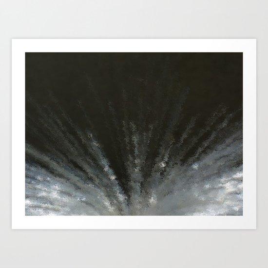 Flash in the night Art Print