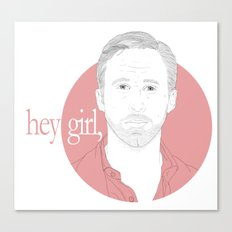 Hey Girl, Canvas Print