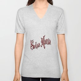 Salsa Mania Dear Red Unisex V-Neck