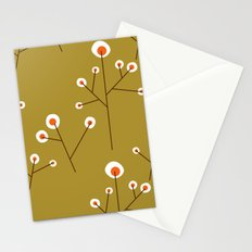 Retro Green Pattern Design Stationery Cards
