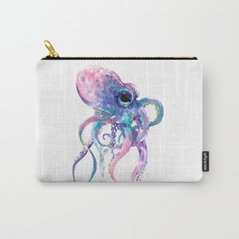 Octopus, Pink purple sea animals design underwater scene painting Carry-All Pouch