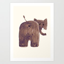 Elephant's butt Art Print