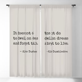 Dreams Quote Blackout Curtain