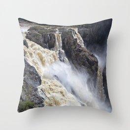 Enjoy the waterfall Throw Pillow