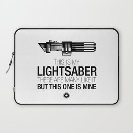 This is my Lightsaber (Vader Version) Laptop Sleeve