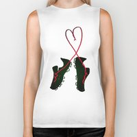 soccer Biker Tanks featuring Soccer Love by Leah Flores