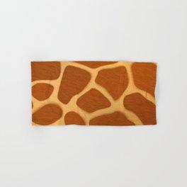 Seamless Exotic Jungle Giraffe Skin Pattern Hand & Bath Towel