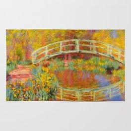 The Japanese Bridge at Giverny - Claude Monet 1896 Rug