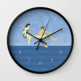 Jack Knife Pool Party Wall Clock