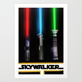 The Skywalker Collection Art Print