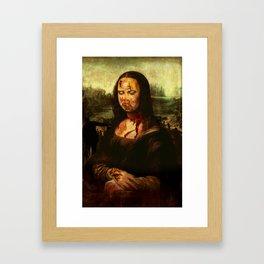 No Mona! Not You Too! Framed Art Print