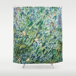 Ocean Life Abstract Shower Curtain