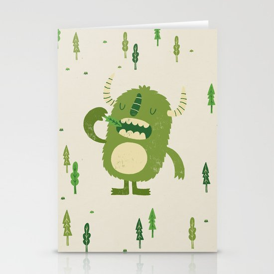 the tree muncher Stationery Cards