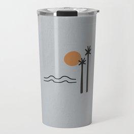Sun Sea Palm Travel Mug