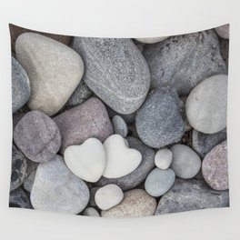 Heart Pebble Stone Mineral Love Symbol Wall Tapestry