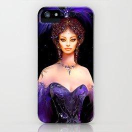 Diva in Lila iPhone Case