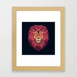 The eyes of a Lion Framed Art Print