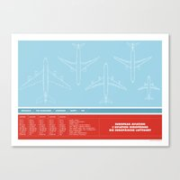 aviation Canvas Prints featuring European Aviation by Marc