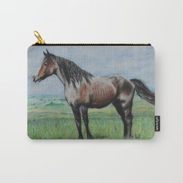 Snowy The Nokota Horse Carry-All Pouch