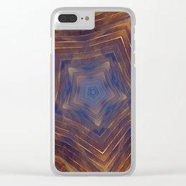 Wood Star Mandala #1 Clear iPhone Case