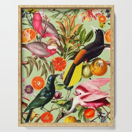 Floral and Birds XXXVII Serving Tray