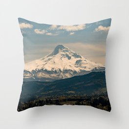 Mountain Valley Pacific Northwest - Nature Photography Throw Pillow