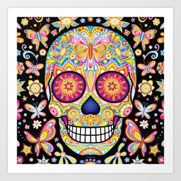 Sugar Skull Art (Mariposa) Art Print