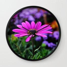 Sunnny pink flower  Wall Clock