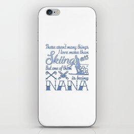 Skiing Nana iPhone Skin