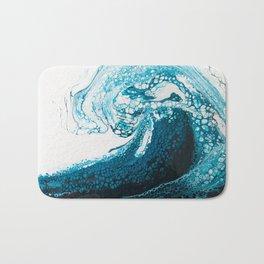 Ocean Wave Acrylic Pour Bath Mat