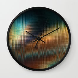 Abstract: space glitch Wall Clock
